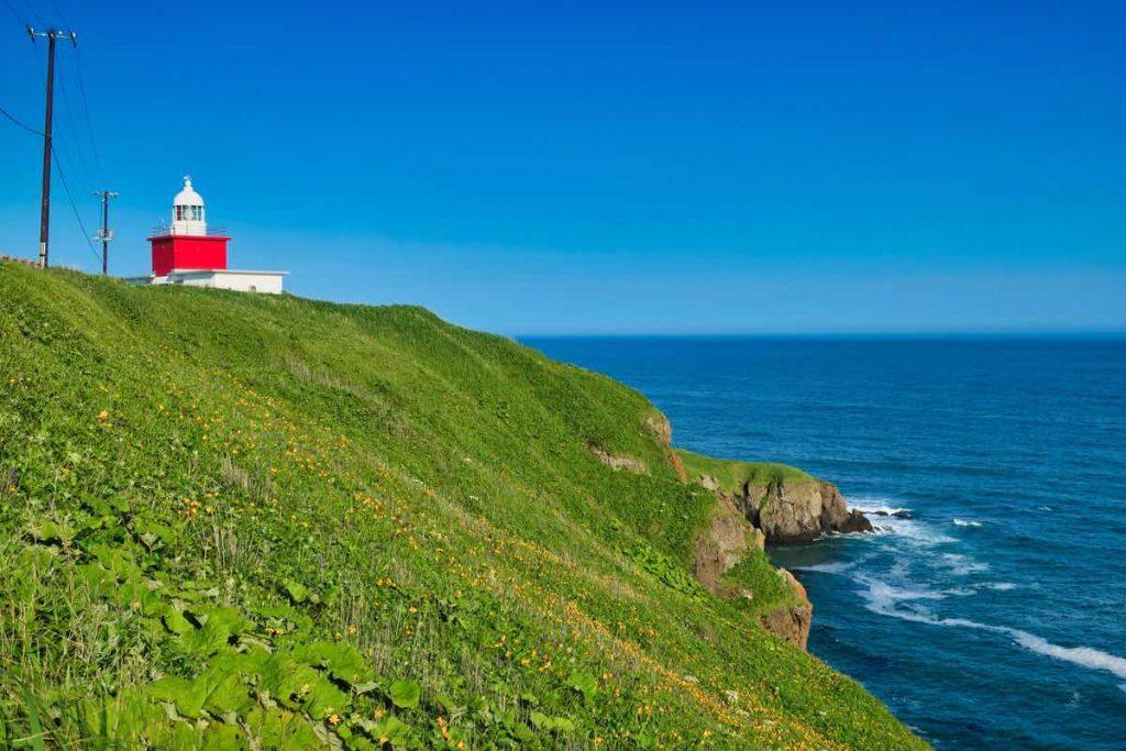 霧多布岬と湯沸岬灯台