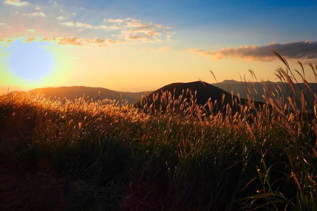 夕日の米塚