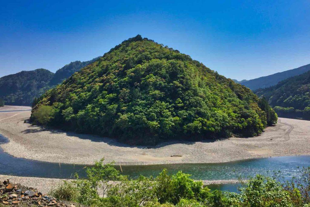 熊野川の大蛇行
