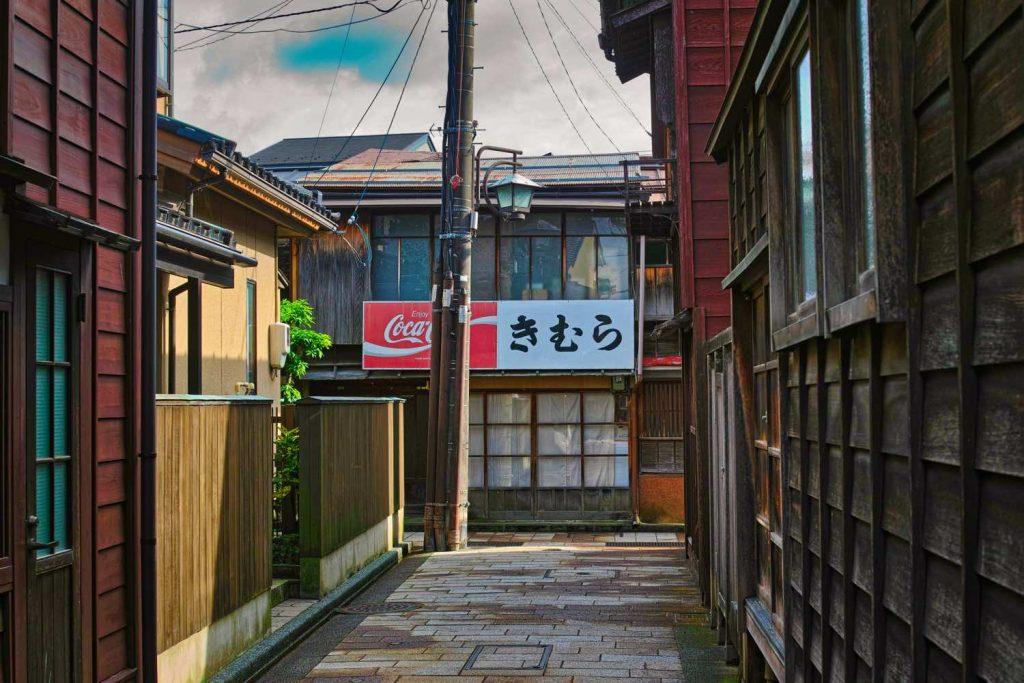 金沢 ひがし茶屋街の裏道