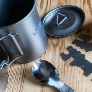 Lixadaチタンカップ調理5ピース